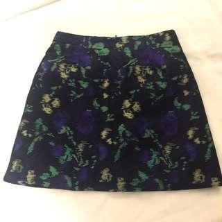 Zara Brocade A-Line Skirt