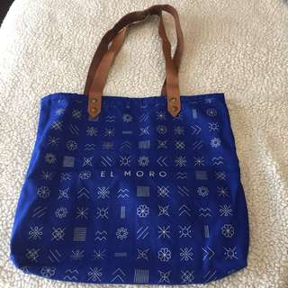 Authentic Leather and Canvas tote from Mexico