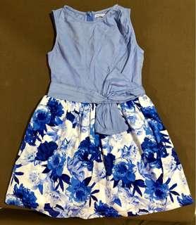 Gingersnaps blue floral dress