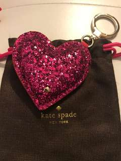 Brand New Kate Spade Heart Keychain Purse Charm