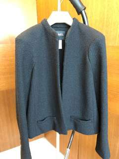 CHANEL Runway Black Wool Jacket