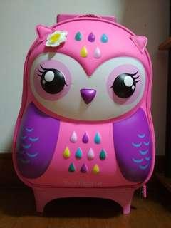 Bnwt original smiggle owl trolley wheelie luggage bag