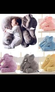 Cartoon Big Size Plush Elephant Toy Kids Sleeping Back Cushion Stuffed Pillow Elephant Doll Baby Doll Birthday Gift for Kids