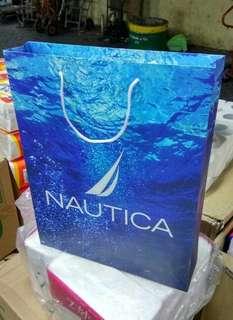 """Paper bag """" NAUTICA """" BIRU Doff karton."""