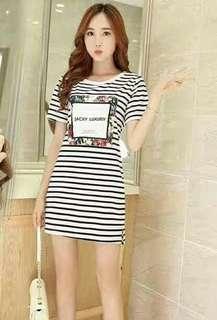 Stripe dress Freesize S to L