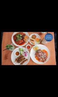 Two People Malaysian Lunch or Dinner with Drink