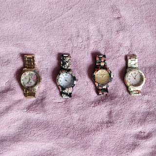 Floral Metal Watches (gently worn)