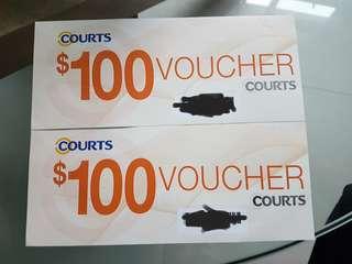Courts Vouchers $200