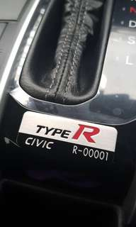 Interior Type R Emblem for Honda