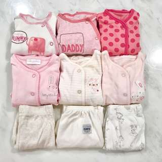 Preloved bundle Mothercare baby girl sleepsuits (0 to 6 months)