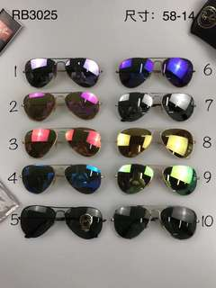 Ray Ban aviator flash lenses rb3025 58mm/62mm size Brand new full packages original made in Italy rayban