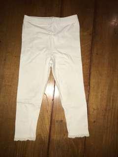 GAP 3y White Girls Leggings