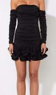 MOSSMAN Black Mini Dress