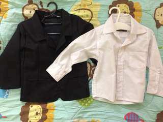 Sold as set (coat and polo)