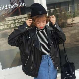二手衣服 二手外套 便宜出售 韓版 寬鬆 oversize 皮衣外套 男朋友款