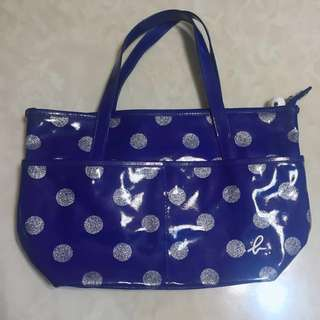 🚚 Agnesb 寶藍 包包/漆皮亮面款