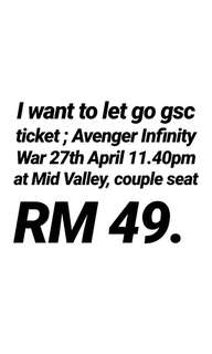 Gsc Avenger Infinity War Midnight movie