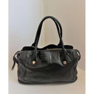 B.Makowsky Black Soft Nice Leather Hobo Satchel Handbag