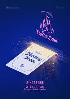 Row 4 TWICELAND in SG VIP STANDING PEN A