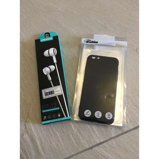Brand new iphone 6S case AND earphone