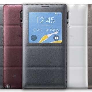 Original Samsung Note 4 S View Cover - Grey