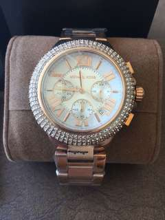 Michael Kors Rose Gold -Glitz Large Stainless Steel Ladies Watch