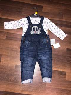 Mothercare baby jumpsuit set
