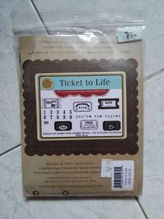 Unity cling stamps - ticket to life