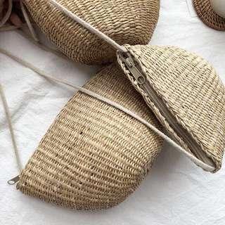自留款✔️超夏日感海灘竹籐小包