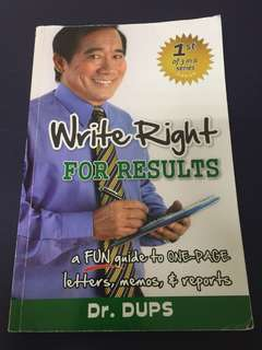 Write Right for Results by Dr. Dups