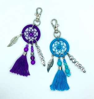 Dream catcher bag charms