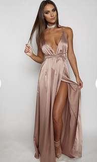 Lita Maxi Dress in Mocha