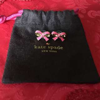 Kate Spade pink bow earrings authentic
