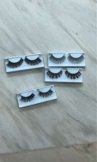 Eyelash real human hair 4 pcs handmade