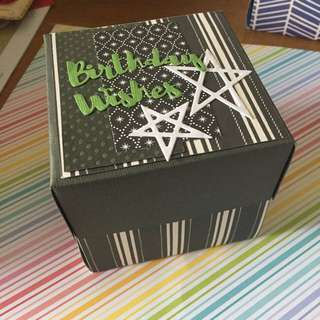 Customised Explosion Box Card