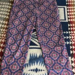 J Crew pattern pants