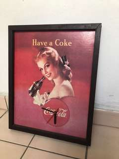 Vintage coke Coca Cola wall cock sales $8!