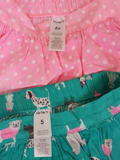6pcs of short and skirts