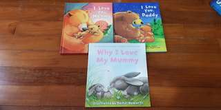 I love mommy, I love daddy, Why I love my mummy big pucture books for pre schooler