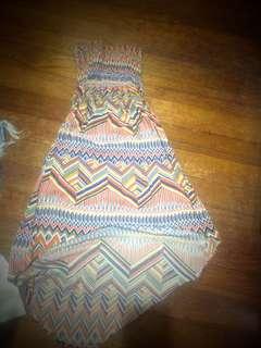 tube long back dress