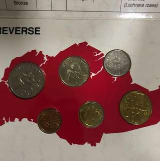 5 sets of 1989 uncirculated Singapore coin set