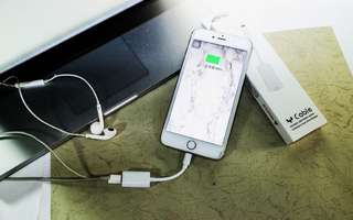 iphone7.7plus/iphone8.8plus/iphoneX 耳機雙Lightning音頻二合一雙母座轉接頭