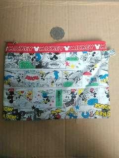 包郵 DISNEY 迪士尼 米奇 多用途 化妝品 文具 細收納袋 貯存包