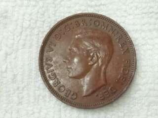UK King George Vi Half Penny