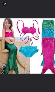 Mermaid 3pcs Swim Costume