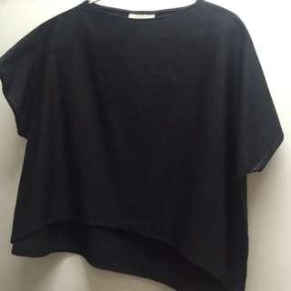 Over sized kashieca black blouse