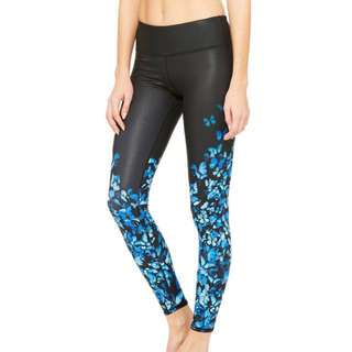 Like New Alo Yoga Gypset Goddess Airbrush Legging - Blue Butterfly - Size M