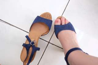 Staccato Blue Block Heels