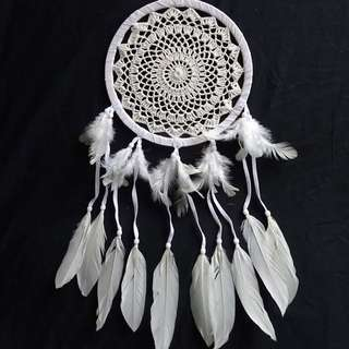 White Crochet Dream Catcher