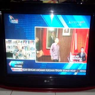 Tv Tabung SLIM LG PEARL BLACK 29 INCH. Mesin ORI,Normal & Mulus. Hrga Sdh NETT.